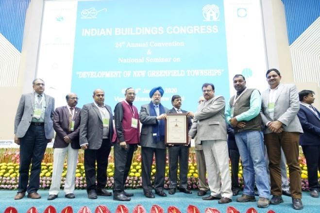 Shri V.K. Tyagi Receiving the Commendation Certificate